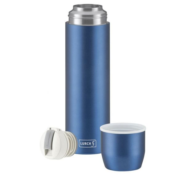 Lurch Isolierflasche mit Becher - blau
